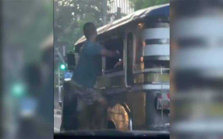 Jeepney Clinging Avenger Arrested For Snatching Wheels Ph